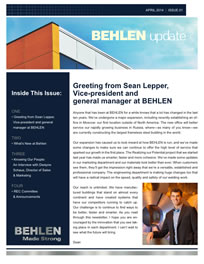 Behlen Industries - April/May 2015 Newsletter