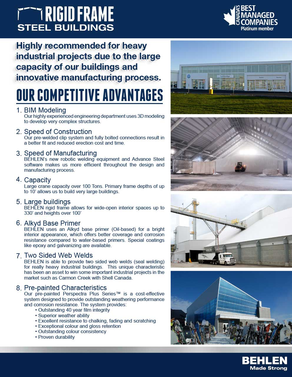 Behlen Industries - Rigid Frame Competitive Advantages