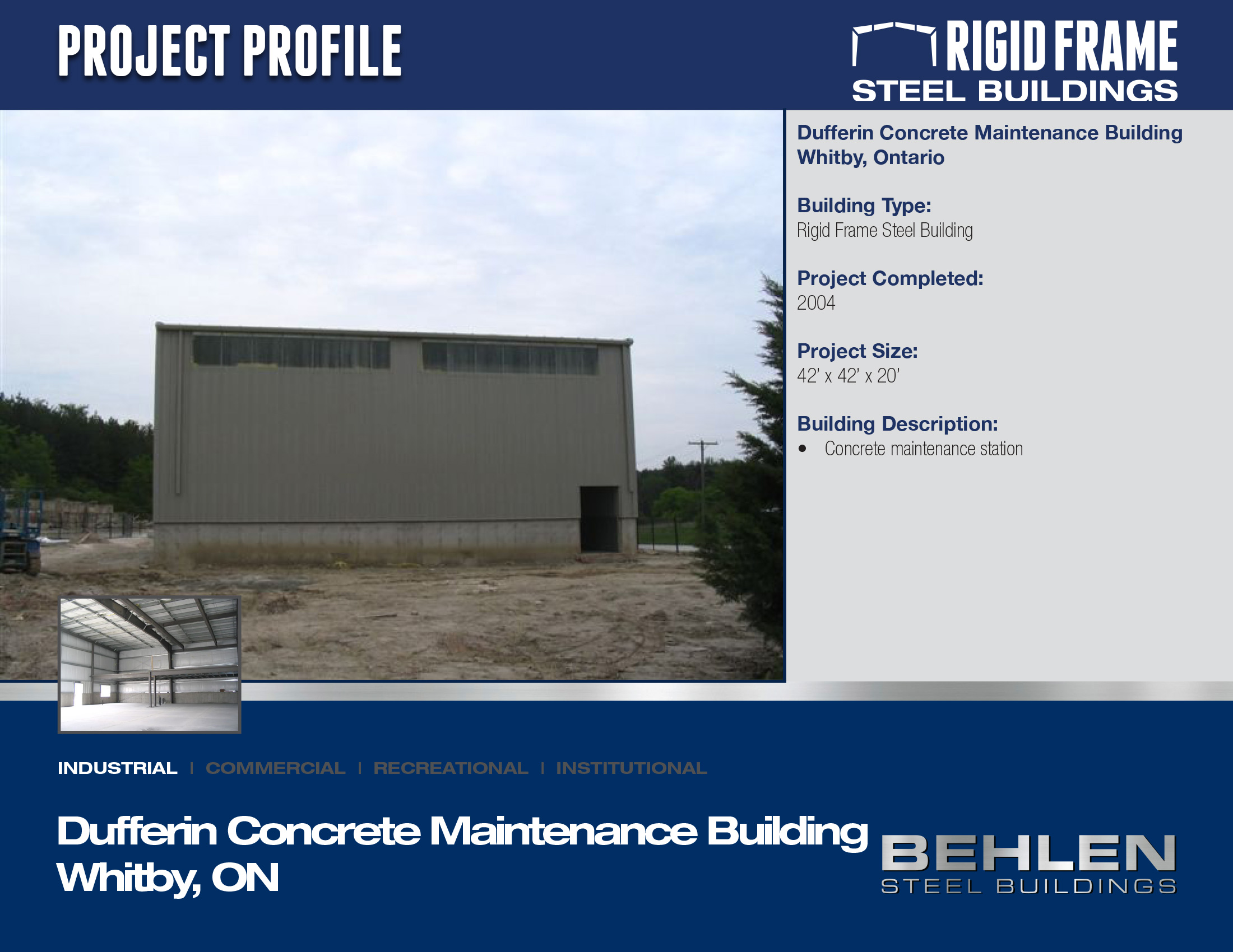 Dufferin Concrete Maintenance Building