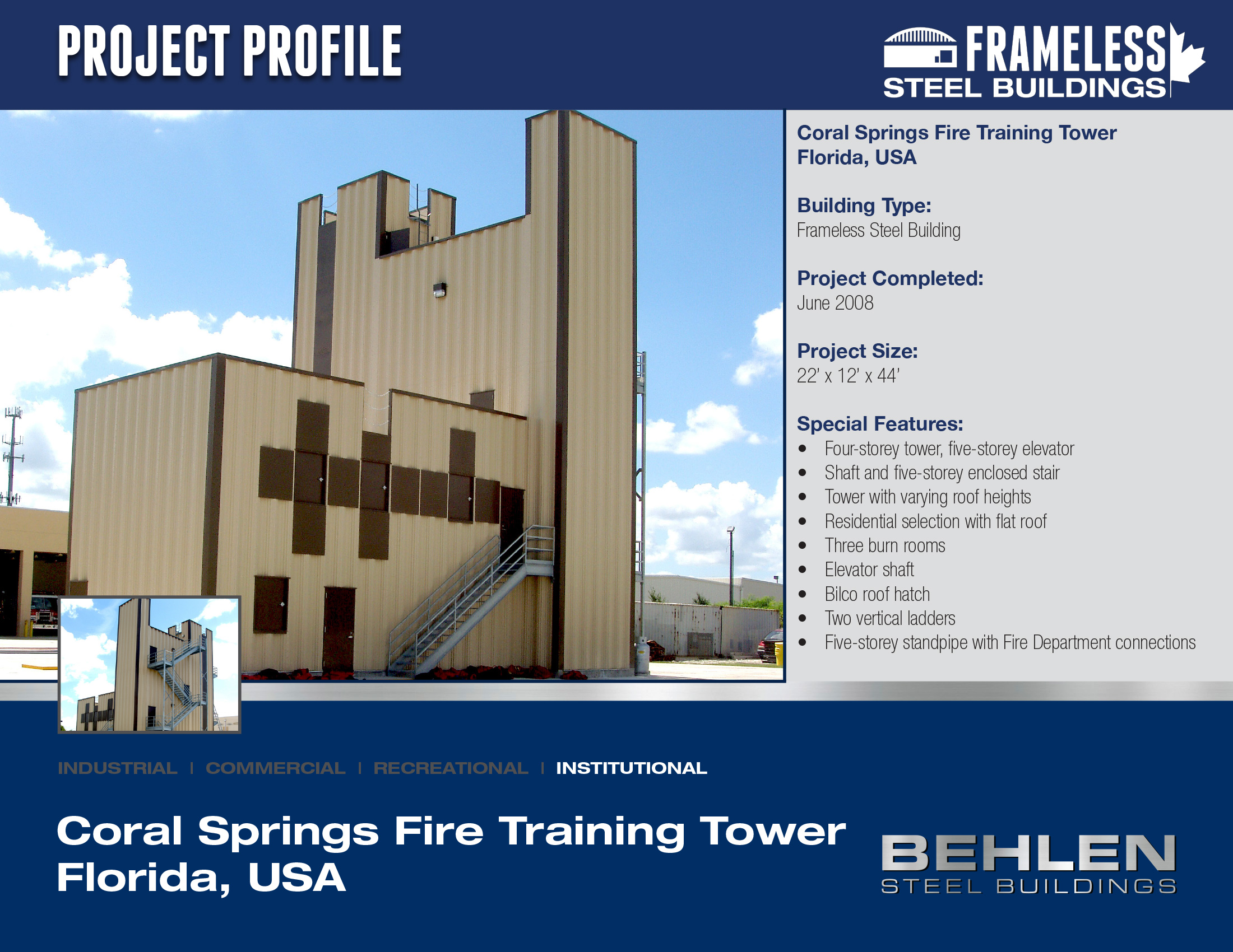 Coral Springs Fire Training Tower