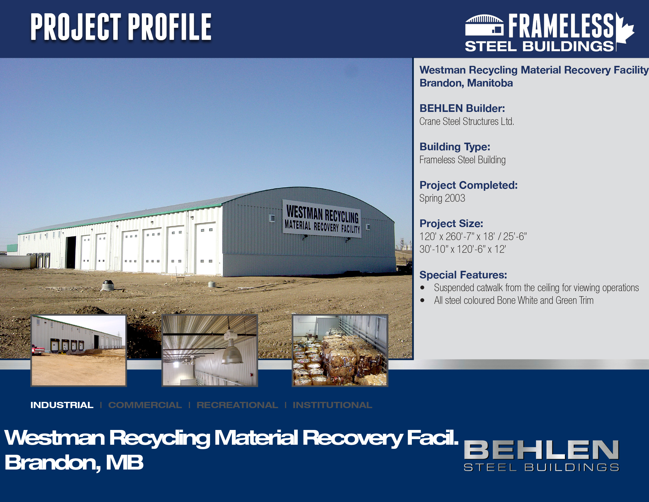 Westman Recycling Material Recovery Facility