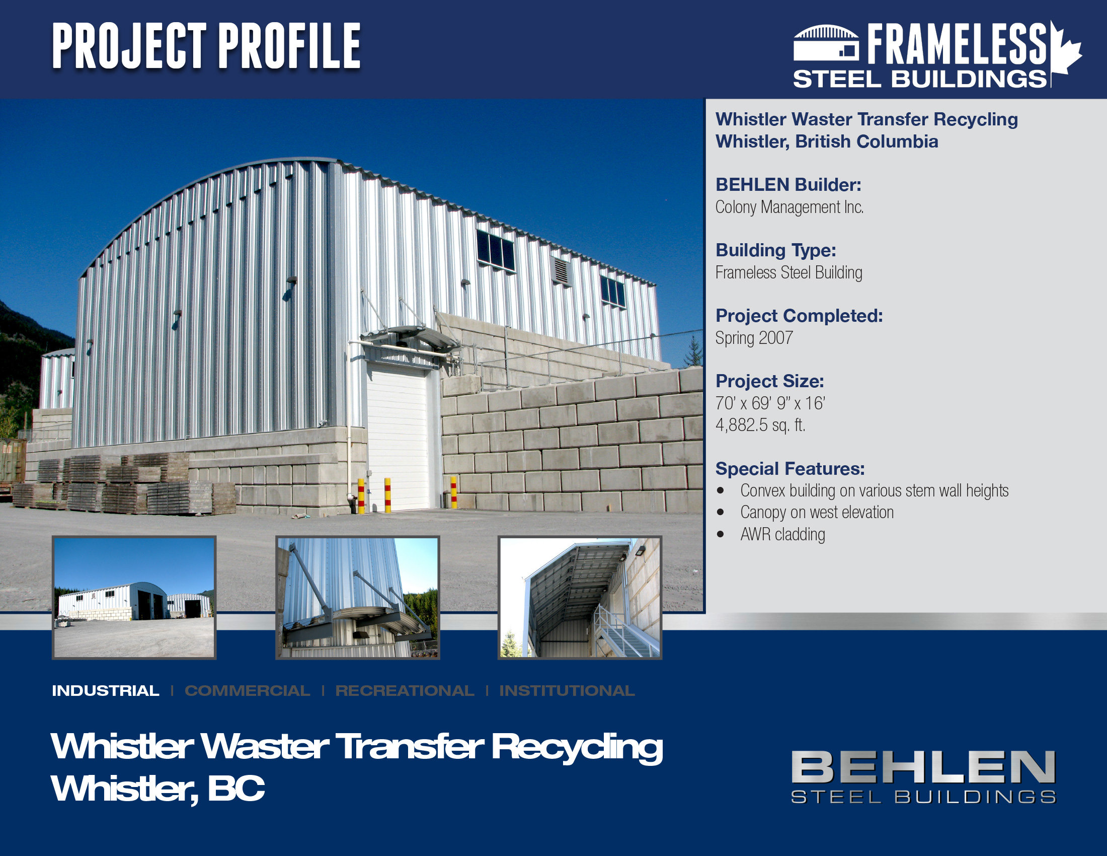 Whistler Waster Transfer Recycling